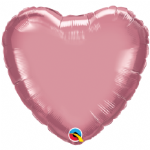 "Mauve Chrome Foil Balloon (18"" Heart) 1pc"